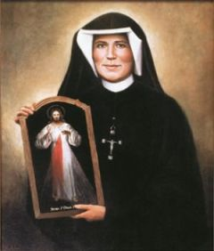 Obtenga este retrato original de Santa Faustina que fue pintado por Janis Blabon e impreso exclusivamente para los Marianos