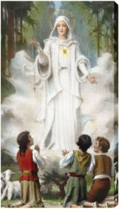 Our Lady of Fatima 10 x 18 Canvas Print