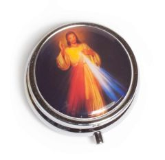 Pastillero con la imagen de la Divina Misericordia