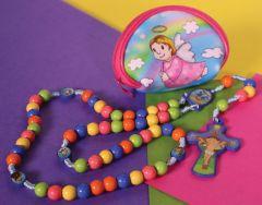 Juego de rosario y estuche