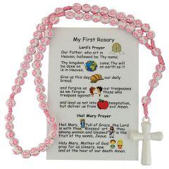 Rosario rosado para los pequeños del hogar