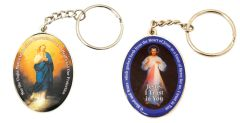Double-sided Key Chain - Divine Mercy & Immaculate Conception