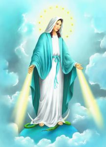 liBreta con imagen de nuestra señora de gracia