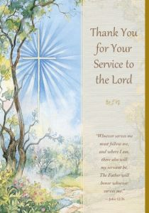 Lord's Service Enrollment Card - Front