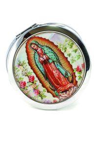 Espejo con la  imagen de Nuestra Señora de Guadalupe