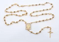 Rosario de nuestra Señora de Guadalupe en color oro