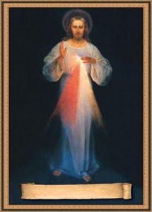 """Esta linda Imagen tiene su propio espacio para que usted la firme diciendo: """"Jesús, en Ti confío"""" (ver el Diario de Santa Faustina, 47) Mide 5"""" x 7"""""""