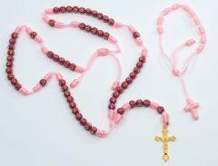 Juego de rosario y pulsera de hilo