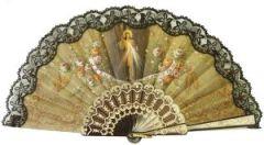 Este hermoso abanico con la imagen de la Divina Misericrodia es importado exclusivamente de España