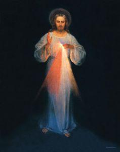 Recientemente restaurada a su belleza original, ésta es la única imagen pintada bajo las instrucciones  de Santa Faustina. Estas reproducciones de alta calidad tienen detalles