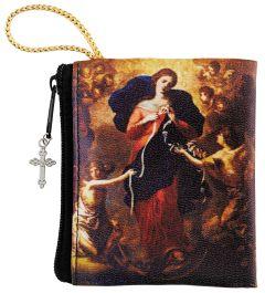 Mary, Undoer of Knots, Zippered Rosary Bag