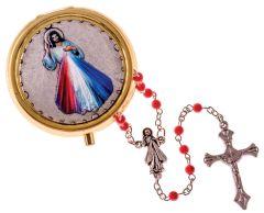 Rosario de la Divina Misericordia con porta rosario